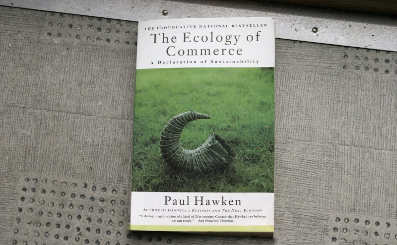 "Paul Hawkin's 1993 ""The Ecology of Commerce: A declaration of sustainability"""